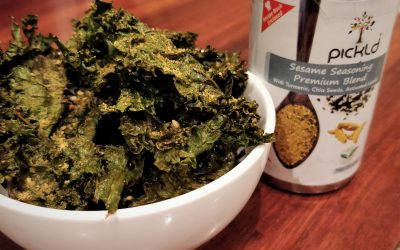 Kale Chips with Sesame Seasoning