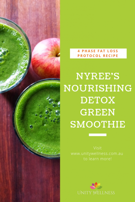 Nourishing Detox Green Smoothie | www.unitywellness.com.au